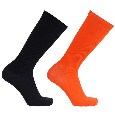 compression socks orange black