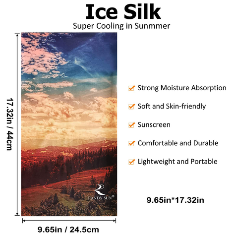 ice silk face cover cool size