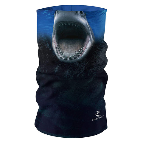 shark cycling face cover