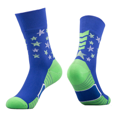 waterproof socks blue green