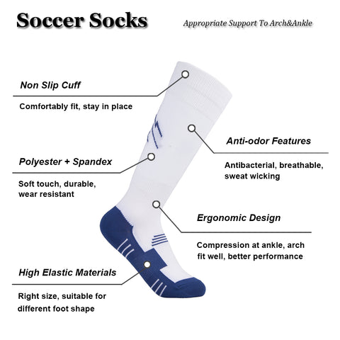 features soccer socks