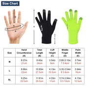 size chart cycling gloves