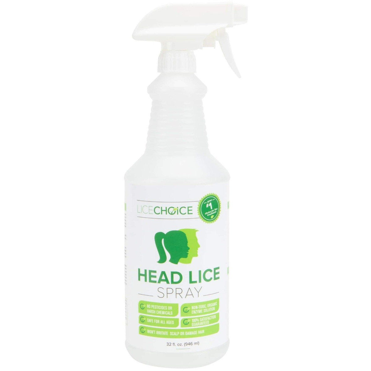 Lice Choice Head Lice Treatment Spray 32oz Bottle.