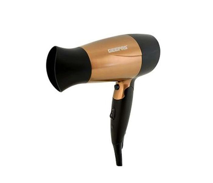 Geepas GH8642 1600 watt Mini Hair Dryer with 2 Speed Control - Gold - TUZZUT Qatar Online Store