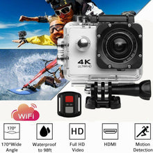 Load image into Gallery viewer, 4K Wifi Ultra HD 1080P Sport Action Camera DV Video Waterproof Camcorder with remote