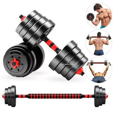 Load image into Gallery viewer, Home Gym 40KG Dumbbell/Barbell Set, Adjustable Dumbbells Weight Set Fitness Biceps Exercise Barbell/Dumbbells - TUZZUT Qatar Online Store