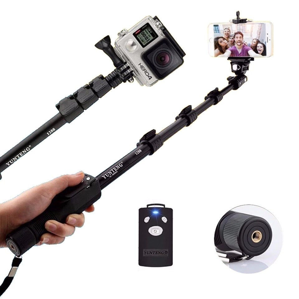 Yunteng Handheld Bluetooth Selfie Stick Monopod Self Pole for Mobile Phones - VT 1288 - TUZZUT Qatar Online Store
