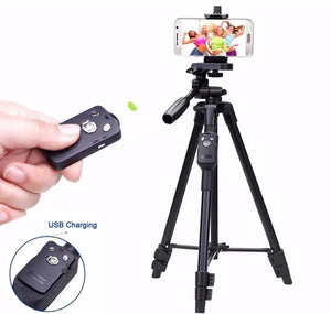 Yunteng Bluetooth Remote Mobile Phone Tripod Holder for Smartphones- VDT 5208