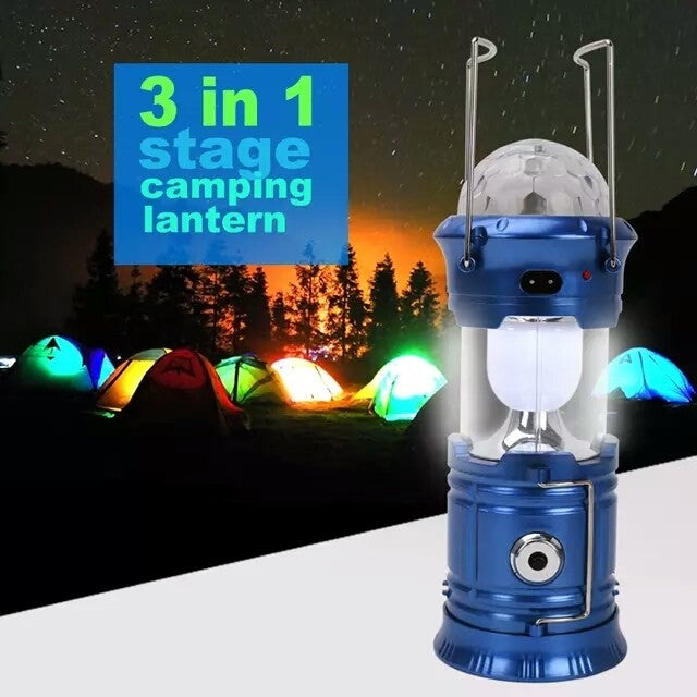 3 in 1 Magic Light - Emergency Light + Camping Lantern + 3 colour Led (Model: HL-5802) - TUZZUT Qatar Online Store