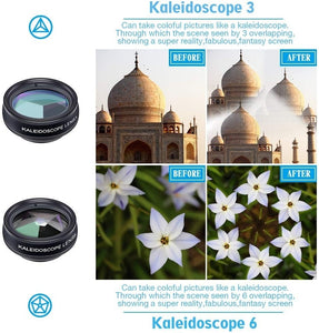 Apexel 10 in 1 Cell Phone Camera Lens Kit Wide Angle Lens & Macro Lens+Fisheye Lens+Telephoto Lens+CPL/Flow/Radial/Star Filter+Kaleidoscope 3/6 Lens for iPhone Samsung Sony and Most of Smartphone - TUZZUT Qatar Online Store