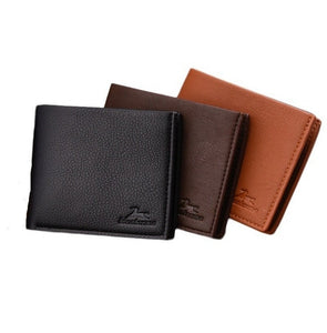 Short Bifold Business Style Man Leather Wallet (3 Pieces) - TUZZUT Qatar Online Store