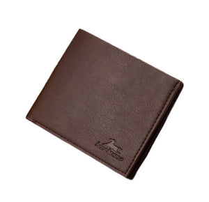 Short Bifold Business Style Man Leather Wallet (3 Pieces)