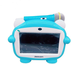JETTOM J1 Play And Learn Kids Tablet 7 Inch 4GB, 512 MB DDR3, WiFi, Quad Core, Camera, Android Calling Function - blue + FREE Microphone! - TUZZUT Qatar Online Store