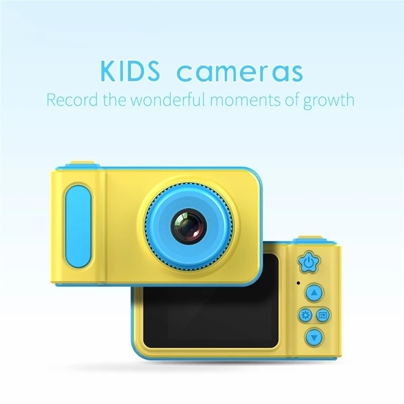 KidsCam™ Mini Digital Camera 2 Inch Cartoon Cute Toys for Kids + FREE 8 GB Micro SD Card