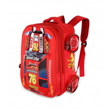Load image into Gallery viewer, 4 Wheel Design School Backpack- Red - TUZZUT Qatar Online Store