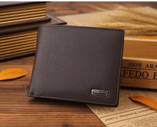 Load image into Gallery viewer, JINBAOLAI CW-8041 Short Bifold Genuine Leather Men Luxury Wallet With Coin Pocket Purse - BROWN