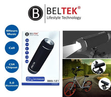 Load image into Gallery viewer, BELTEK Bluetooth Speaker with Torch Light and Bike Mount -BBS121 - TUZZUT Qatar Online Store
