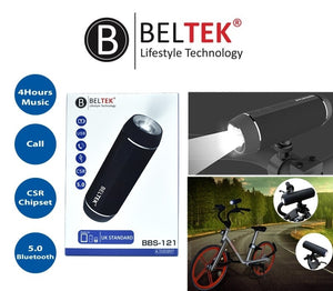 BELTEK Bluetooth Speaker with Torch Light and Bike Mount -BBS121 - TUZZUT Qatar Online Store