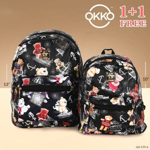 OKKO 2 Pieces Mochila Backpack for Teenagers 13 Inch and 10 Inch - GH-179-6 - TUZZUT Qatar Online Store