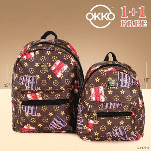 OKKO 2 Pieces Mochila Backpack for Teenagers 13 Inch and 10 Inch - GH-179-3