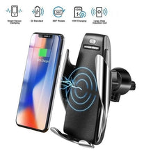 Load image into Gallery viewer, S5 Automatic Clamping Wireless Car Charger For iphone Android Air Vent Phone Holder 360 Degree Rotation Charging Mount Bracket