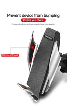 Load image into Gallery viewer, S5 Automatic Clamping Wireless Car Charger For iphone Android Air Vent Phone Holder 360 Degree Rotation Charging Mount Bracket - TUZZUT Qatar Online Store