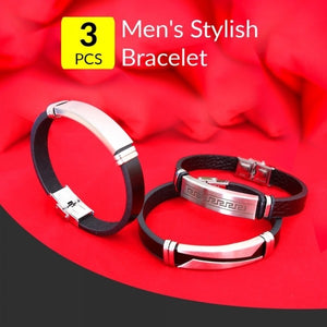 Men's Stylish Bracelet Set of 3pcs