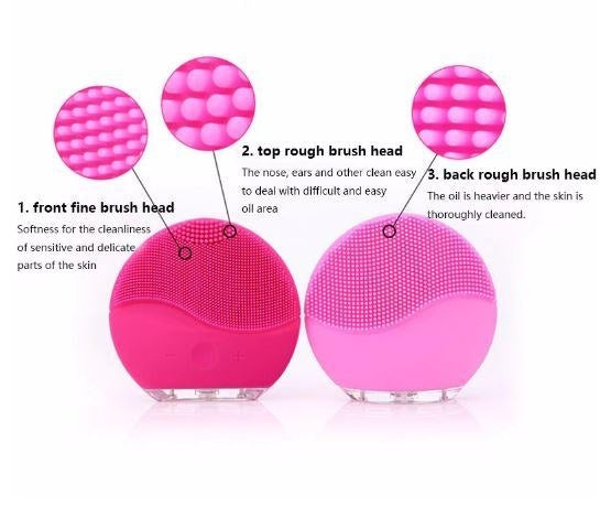 Electric Face Cleanser Vibrate, Waterproof Silicone Brush Massager Facial Skin Care - TUZZUT Qatar Online Store