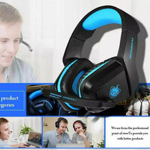 Load image into Gallery viewer, PHOINIKAS H1 Stereo Gaming Headset,Noise-Cancelling Headset,Bass Surround, Over Ear Headset,for PC,PS4,Xbox One, Mac, iPad, with Mic, LED Light,360 Switch Controller,Classic Version Headset (Blue)