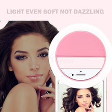 Load image into Gallery viewer, Selfie Ring Light Cell Phone LED Camera Light Clip for Mobile Phones/PC/Tablets - TUZZUT Qatar Online Store