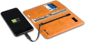 2-in-1 ZHUSE Universal Leather Wallet with 6800mAh Power Bank - TUZZUT Qatar Online Store
