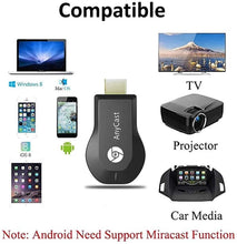 Load image into Gallery viewer, Anycast Wireless WiFi Display Dongle, Wireless HDMI Dongle, 1080P Screen Mirror dongle, Streaming Media Player Airplay Dongle Digital AV to HDMI Connector for iOS/Android/Windows/Projector/TV/MAC OSX - TUZZUT Qatar Online Store