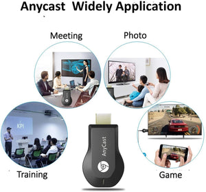 Anycast Wireless WiFi Display Dongle, Wireless HDMI Dongle, 1080P Screen Mirror dongle, Streaming Media Player Airplay Dongle Digital AV to HDMI Connector for iOS/Android/Windows/Projector/TV/MAC OSX - TUZZUT Qatar Online Store