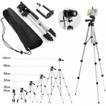 Load image into Gallery viewer, WT 3110 Lightweight Tripod with Adjustable-height legs Free Phone Holder with Bag
