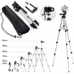 WT 3110 Lightweight Tripod with Adjustable-height legs Free Phone Holder with Bag - TUZZUT Qatar Online Store