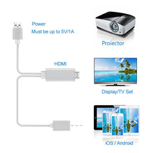 Load image into Gallery viewer, USB To HDMI Cable HDTV Mirroring Adapter For iPhone/Android L6M-2M 1080P