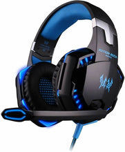 Load image into Gallery viewer, KOTION EACH G2000 Pro Gaming Headset with Mic Over-Ear Led Stereo Music Gaming Headphones Earphone for PS4, New Xbox One, Laptop Tablet Game - Blue-Black - TUZZUT Qatar Online Store