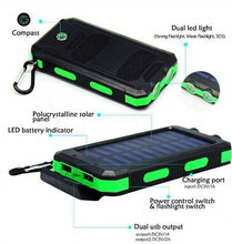 Load image into Gallery viewer, Gpower 20,000 mAh Portable Shockproof Solar Charger Dual USB External Battery PowerBank (GS-02), Assorted Color - TUZZUT Qatar Online Store