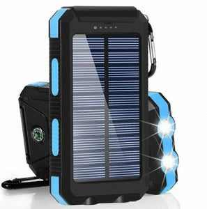 Gpower 20,000 mAh Portable Shockproof Solar Charger Dual USB External Battery PowerBank (GS-02), Assorted Color - TUZZUT Qatar Online Store
