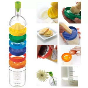 8 in 1 Kitchen Bottle Tool Set- Multi Kitchen Gadgets Maker(Funnel, Juicer Lemon squeezer, Spice grater, Egg masher, Cheese grater, Egg separator, Measuring cup, Can opener) - TUZZUT Qatar Online Store