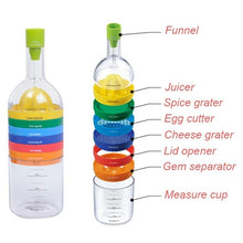 Load image into Gallery viewer, 8 in 1 Kitchen Bottle Tool Set- Multi Kitchen Gadgets Maker(Funnel, Juicer Lemon squeezer, Spice grater, Egg masher, Cheese grater, Egg separator, Measuring cup, Can opener) - TUZZUT Qatar Online Store