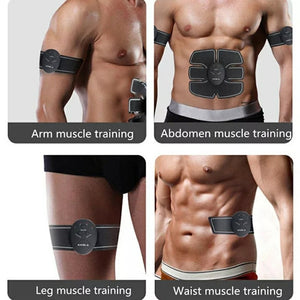ABS Training Device (1 x Tummy pad, 2 x Arm pads) Rechargeable - TUZZUT Qatar Online Store