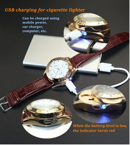 Zhuoheng Male Quartz Watch LED Electronic Lighters for Cigarette - TUZZUT Qatar Online Store