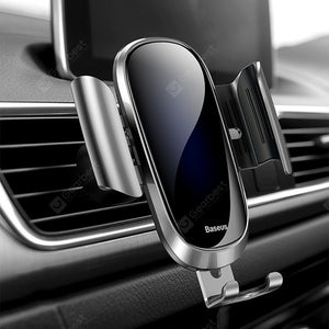 Baseus SUYL - WL01 Gravity Reaction Air Vent Mount Mobile Phone Holder - Silver - TUZZUT Qatar Online Store