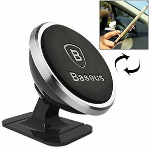 Baseus Magnetic Phone Holder for Car, 360 Degree Rotation Smartphone Stand on Car Dashboard for iPhone Samsung and Other Mobiles - TUZZUT Qatar Online Store