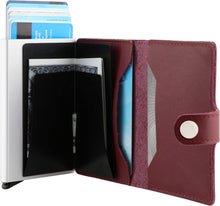 Load image into Gallery viewer, Bitza Ultra Slim Genuine Leather Card Holder Wallet with RFID Protection