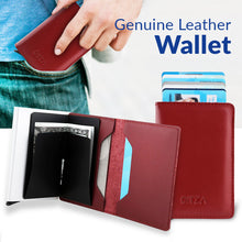 Load image into Gallery viewer, Bitza Ultra Slim Genuine Leather Card Holder Wallet with RFID Protection - TUZZUT Qatar Online Store