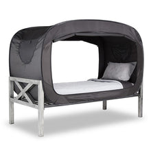 Load image into Gallery viewer, Privacy POP Bed Tent, With Double sided zippers - Black - TUZZUT Qatar Online Store