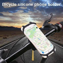 Load image into Gallery viewer, Universal Silicon Bike Phone Mount, Bicycle Handlebar Stroller Cell Phone Holder - TUZZUT Qatar Online Store
