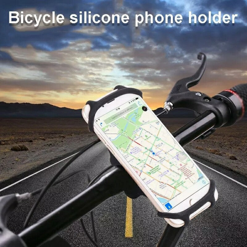 Universal Silicon Bike Phone Mount, Bicycle Handlebar Stroller Cell Phone Holder - TUZZUT Qatar Online Store